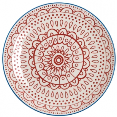 Olympia Fresca Plates Red 268mm