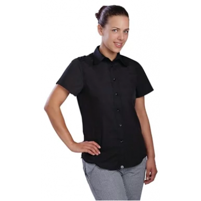 Chef Works Womens Cool Vent Chefs Shirt Black