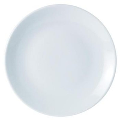 Porcelite Standard Coupe Shaped Plate 18cm