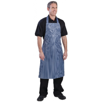 100% Waterproof Nylon Apron - Blue and White
