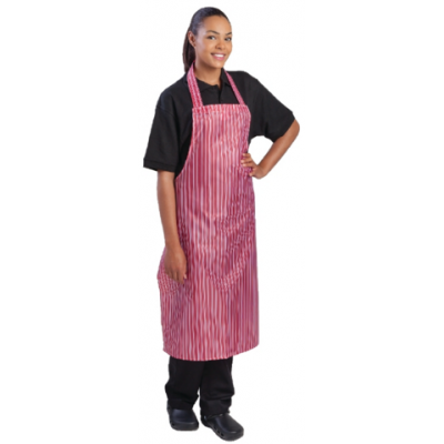 100% Waterproof Nylon Apron - Red and White