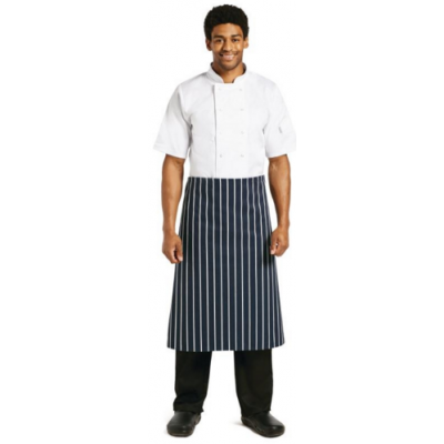 Butchers Blue & White Stripe Waist Apron