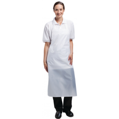 Waterproof Bib Apron - White