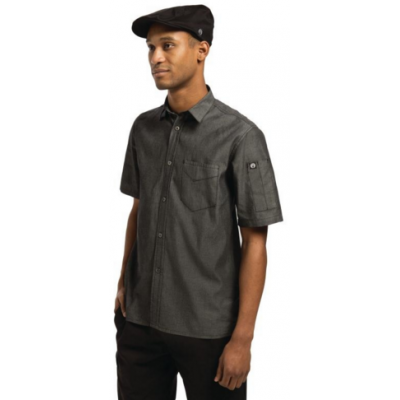 Detroit Denim Short Sleeve Shirt Black