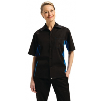 Colour by Chef Works Contrast Black and Blue Shirt