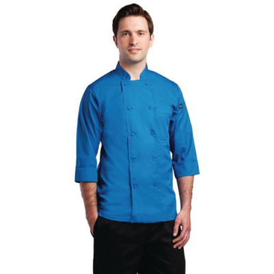 Colour by Chef Works Unisex Chef Jacket Blue