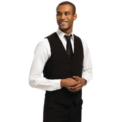 Mens Black Waistcoat with Black Buttons