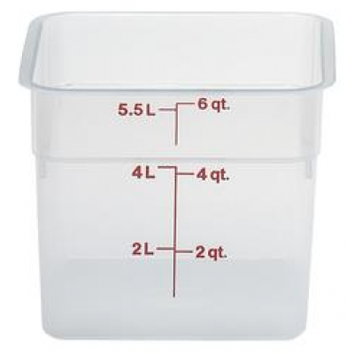 Cambro Polyethylene 5.7 Litre Square Storage Container