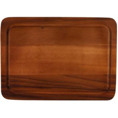 Acacia Cutting Board with Groove