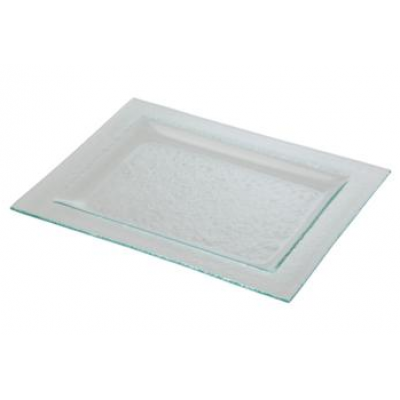 Rectangular Platter With Rim