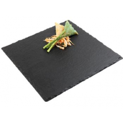 Natural Slate Square Tray - 25cm