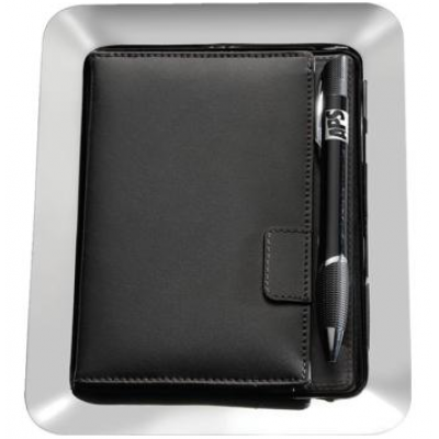 Bill Presenter Steel/Leather - Magnetic