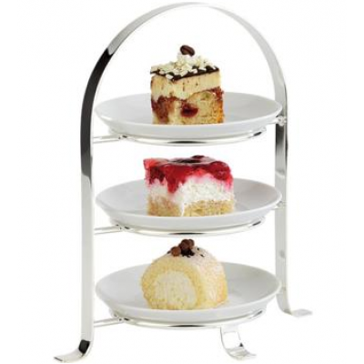 3 Tier Chrome Serving Stand