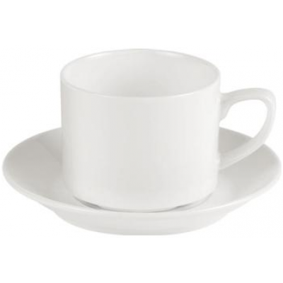 Porcelite Connoisseur Stacking Tea Cup - 20cl / 7oz