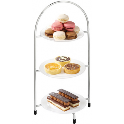Utopia 3-Tier Cake Stand for 3 x 17cm Plates