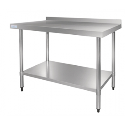 Vogue Stainless Steel Table with Upstand