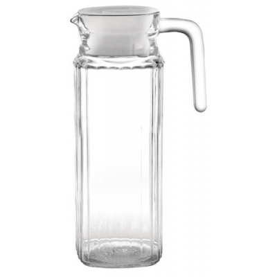 Olympia Ribbed Glass Jugs 1Ltr