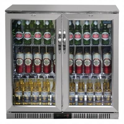 Polar GL008 Hinged Door Back Bar Cooler  - Stainless Steel