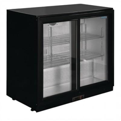 Polar GL010 Reduced Height, Sliding Door Bottle Cooler