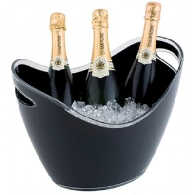 Large Wine / Champagne Bowl Black Acrylic