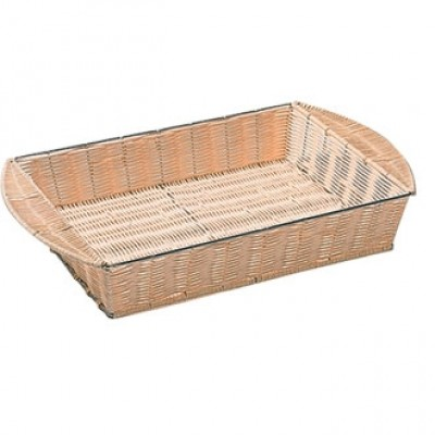 Whicker Metal Frame Basket