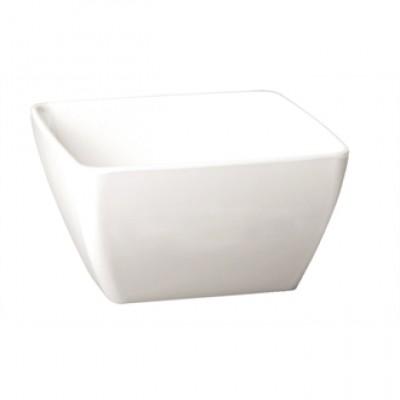 APS Pure Melamine White Square Bowl