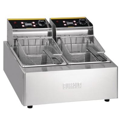 L495 Buffalo 2 x 5ltr Double Fryer