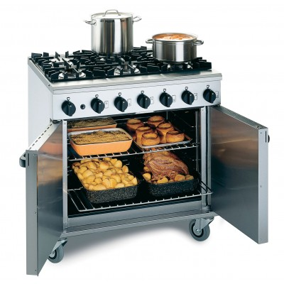 LMR9/N Lincat Medium Duty 6 Burner Range