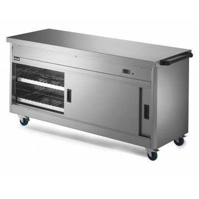 P6P5 Lincat Hot Cupboard Plain Top