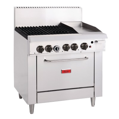 GL174-N Thor 4 Burner Natural Gas Oven and 305mm Grill