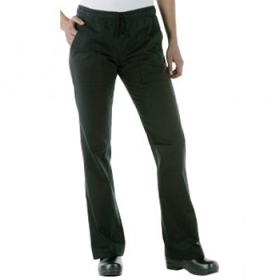 Ladies Executive Chef Trousers - Black