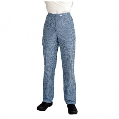 Ladies Chef Trousers - Blue and White Check