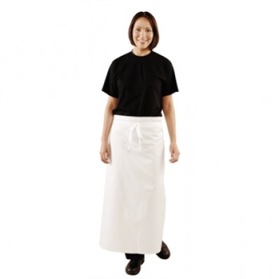 Long White Bistro Apron