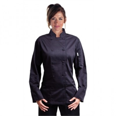 Marbella Ladies Black Executive Chef Jacket