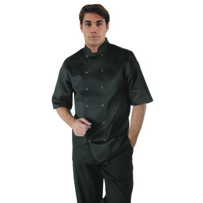 Vegas Chefs Short Sleeve Jacket - Black