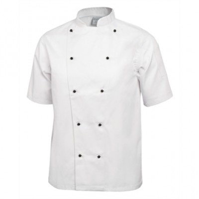 Whites Chicago Short Sleeve Chef Jacket - White