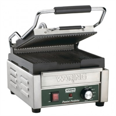 Waring CF230 Single Panini Grill - Ribbed Plates