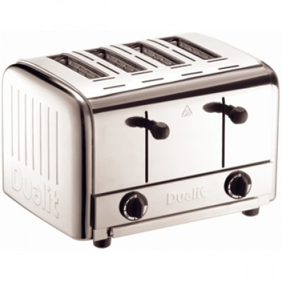 49900 Dualit Caterers Pop Up 4 Slot Toaster - Stainless Steel