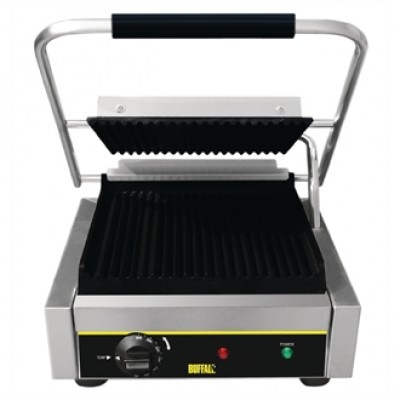 Buffalo DM903 Bistro Contact Grill - Ribbed Plates
