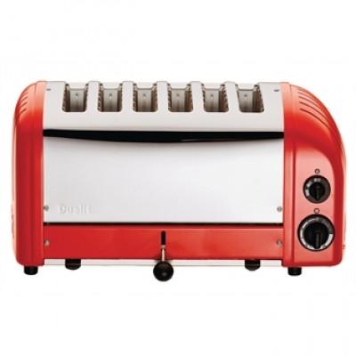 60154 Dualit 6 Slice Vario Red Toaster