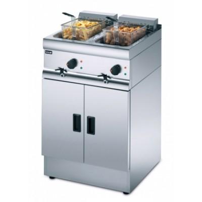 J12 Lincat Silverlink 600 2 x 9ltr Free Standing Double Fryer