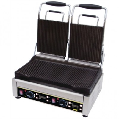 Buffalo L537 Double Contact Grill - Ribbed Plates