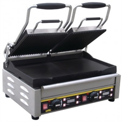 L554 Buffalo Double Contact Grill - Ribbed/Flat Plates