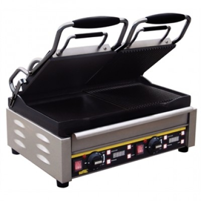 Buffalo L555 Double Contact Grill - Split Ribbed/Flat Plates