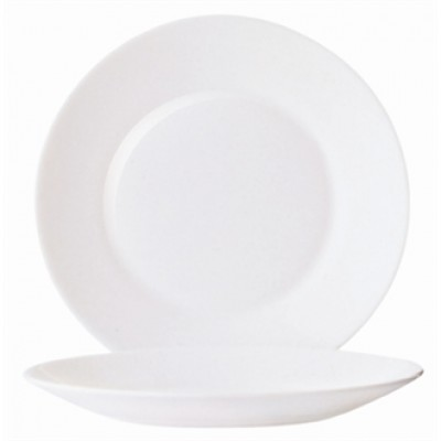 Arcoroc Restaurant Wide Rim Plate 252mm