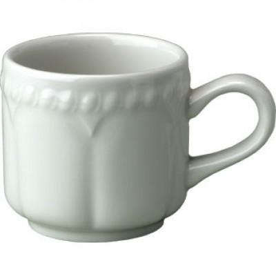 Churchill Buckingham White Stacking Coffee Cup 4oz