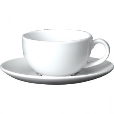 Churchill Plain Whiteware Cappuccino Cup 7oz