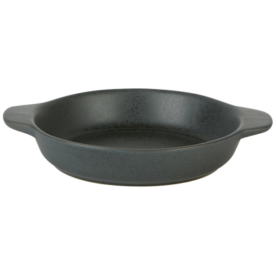 Rustico Carbon Round Eared Dish 12cm
