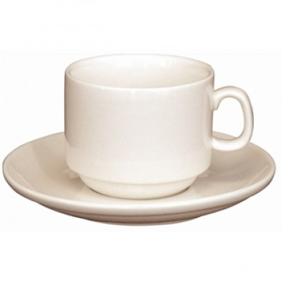 U103 Olympia Ivory Espresso Stacking Saucer