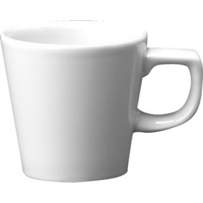 Churchill Plain Whiteware Cafe Cup 8oz